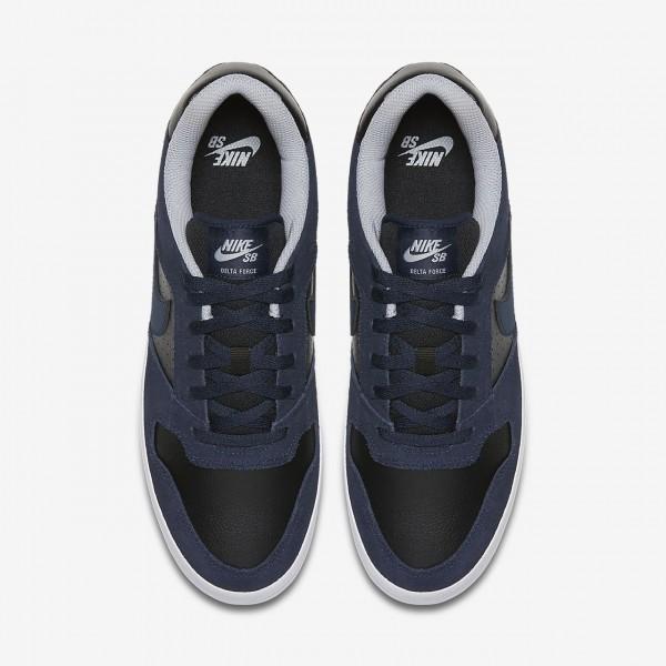 Nike Sb Delta Force Vulc Skaterschuhe Herren Obsidian Schwarz Grau 891-66195