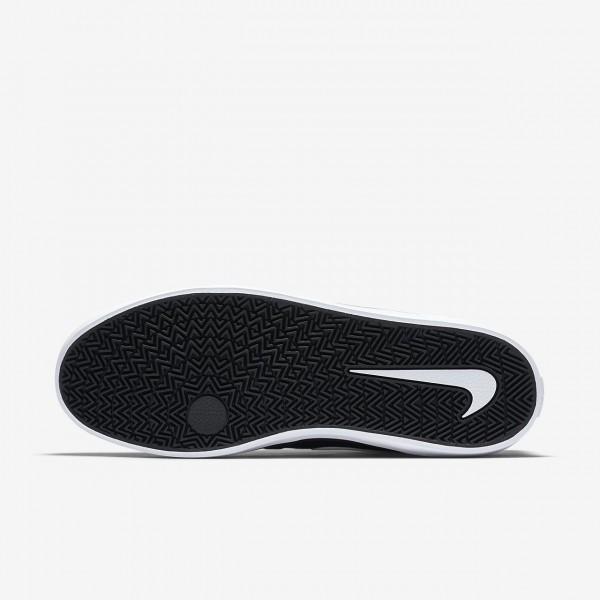 Nike Sb Check Solarsoft Skaterschuhe Herren Schwarz Weiß 665-18611