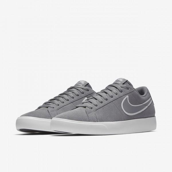 Nike Sb Blazer Vapor Skaterschuhe Herren Grau Weiß 434-50915