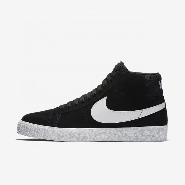 Nike Sb Blazer Mid Skaterschuhe Herren Schwarz Wei...