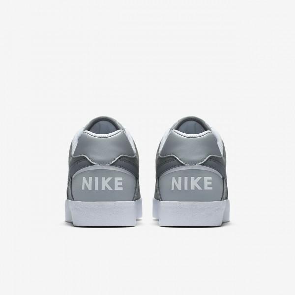 Nike Sb Delta Force Vulc Skaterschuhe Herren Grau Weiß 566-57269