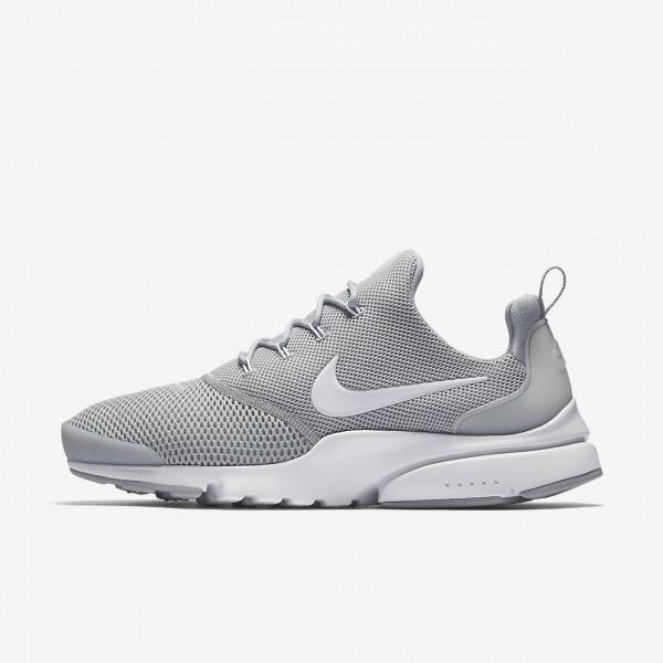 Nike Presto Fly Freizeitschuhe Herren Grau Weiß 9...