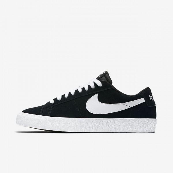 Nike Sb Blazer low Skaterschuhe Herren Schwarz Hel...