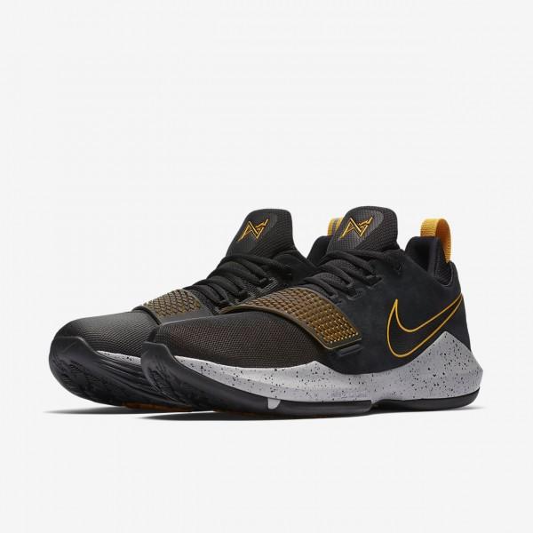 Nike Pg1 Basketballschuhe Herren Schwarz Gold 892-63141