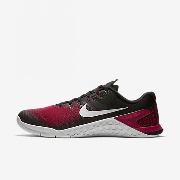 Nike Metcon 4 Trainingsschuhe Herren Schwarz Rot G...