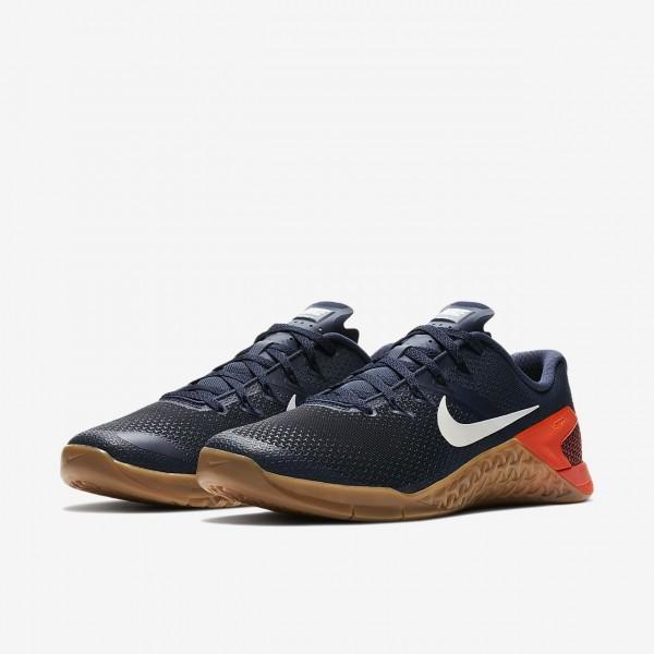 Nike Metcon 4 Trainingsschuhe Herren Blau Schwarz Rot Weiß 569-47790