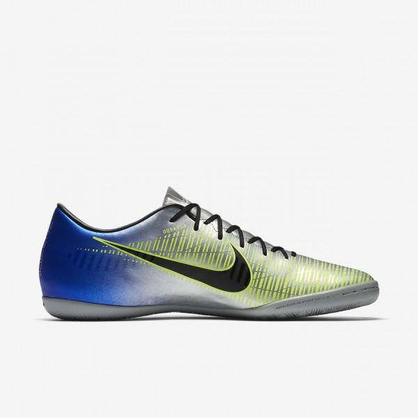 Nike Mercurialx Victory VI Neymar Ic Fußballschuhe Herren Blau Silber Grün Schwarz 999-48548