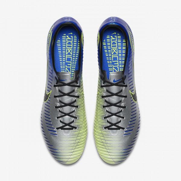 Nike Mercurial Veloce III Neymar Fg Fußballschuhe Herren Blau Silber Grün Schwarz 897-75129