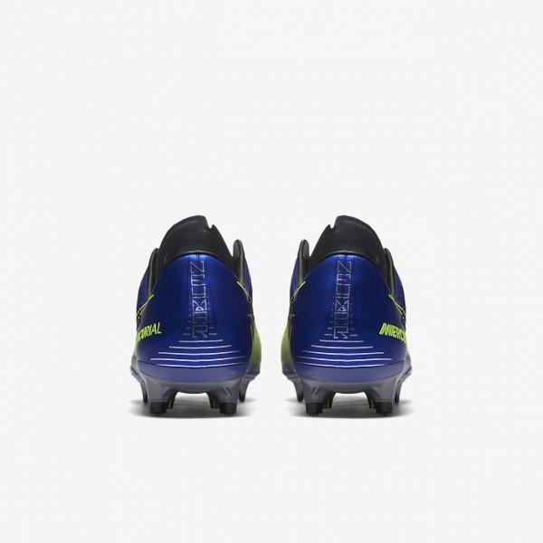 Nike Mercurial Vapor XI Neymar Fg Fußballschuhe Herren Blau Silber Grün Schwarz 257-26804