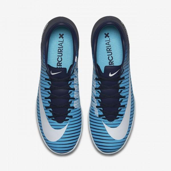 Nike Mercurial Victory VI Ic Fußballschuhe Herren Obsidian Blau Weiß 898-34302