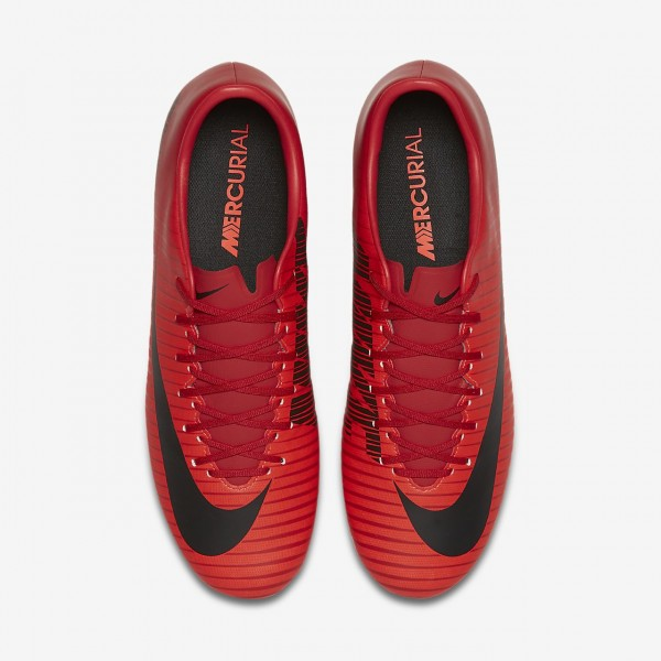 Nike Mercurial Victory VI Fg Fußballschuhe Herren Rot Schwarz 924-83142