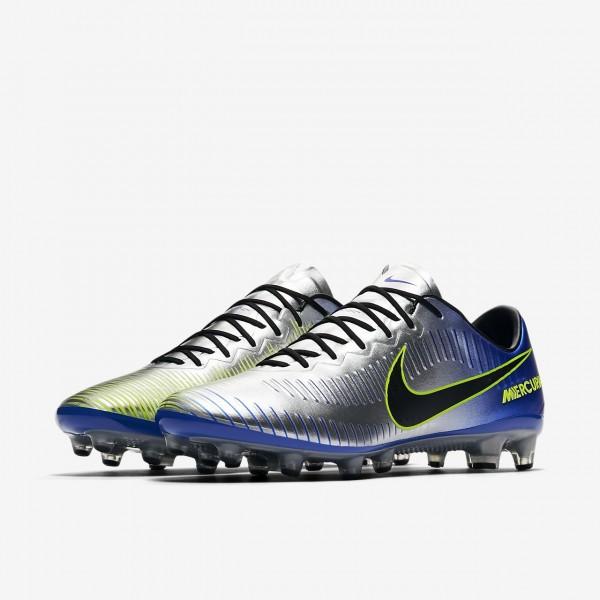 Nike Mercurial Vapor XI Neymar Ag-pro Fußballschuhe Herren Blau Silber Grün Schwarz 533-46313