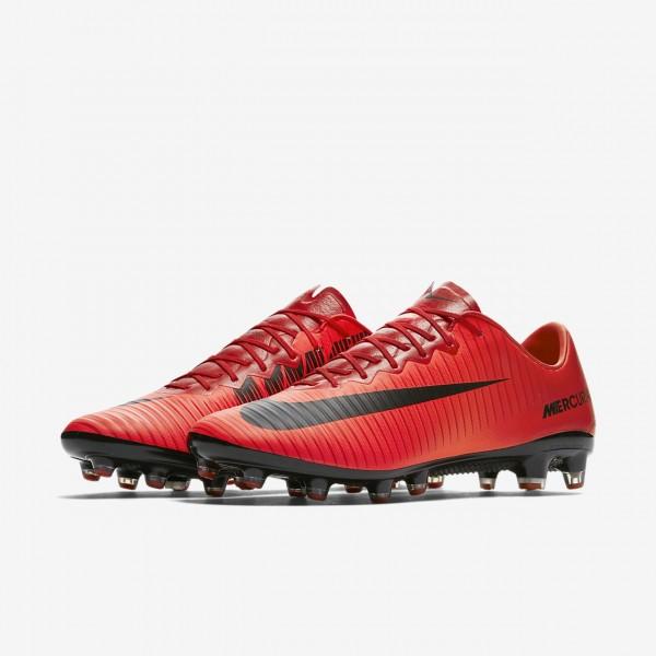 Nike Mercurial Vapor XI Ag-pro Fußballschuhe Herren Rot Schwarz 625-39911