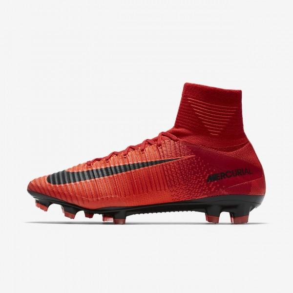 Nike Mercurial Superfly V Fg Fußballschuhe Herren Rot Schwarz 645-98391