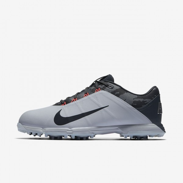 Nike Lunar Fire Golfschuhe Herren Grau Schwarz Rot Silber 820-56027