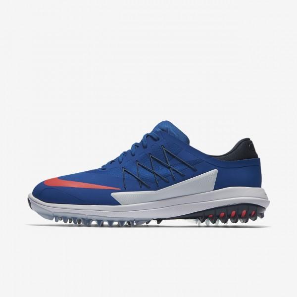 Nike Lunar Control Vapor Golfschuhe Herren Blau Navy Weiß Rot 995-10314