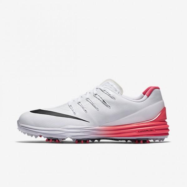 Nike Lunar Control 4 Golfschuhe Herren Weiß Rot S...