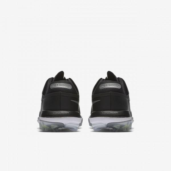 Nike Lunar Control Vapor Golfschuhe Herren Schwarz Weiß Metallic Silber 827-41366