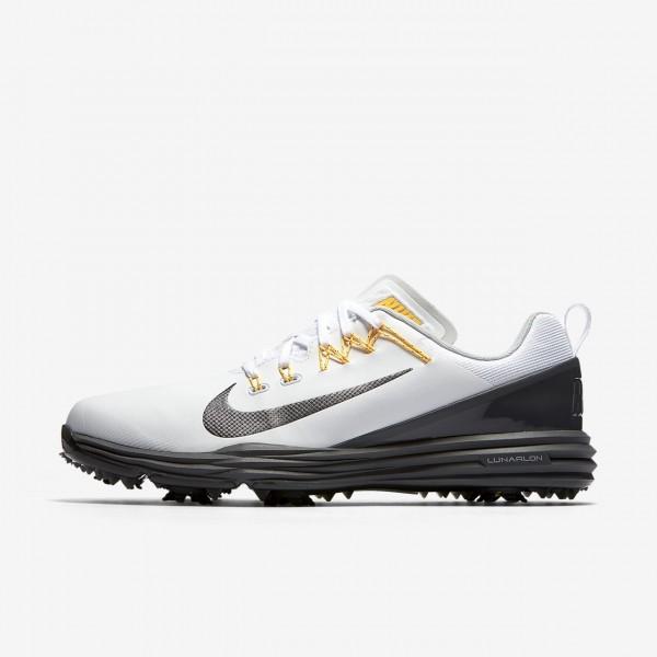 Nike Lunar Command 2 Golfschuhe Herren Weiß Orang...