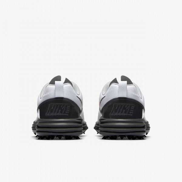 Nike Lunar Command 2 Golfschuhe Herren Weiß Orange Metallic Dunkelgrau 848-85904