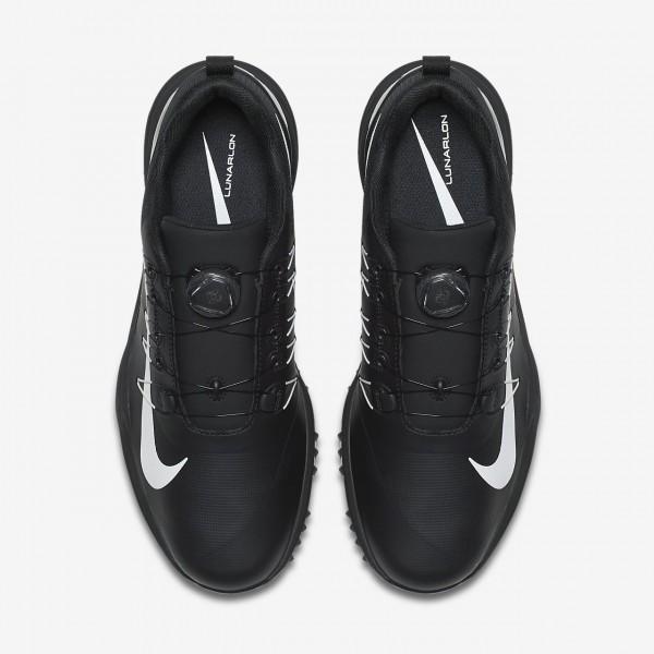 Nike Lunar Command 2 Boa Golfschuhe Herren Schwarz Weiß 579-41981