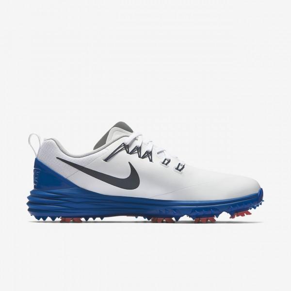 Nike Lunar Command 2 Golfschuhe Herren Weiß Blau Rot Navy 573-67406