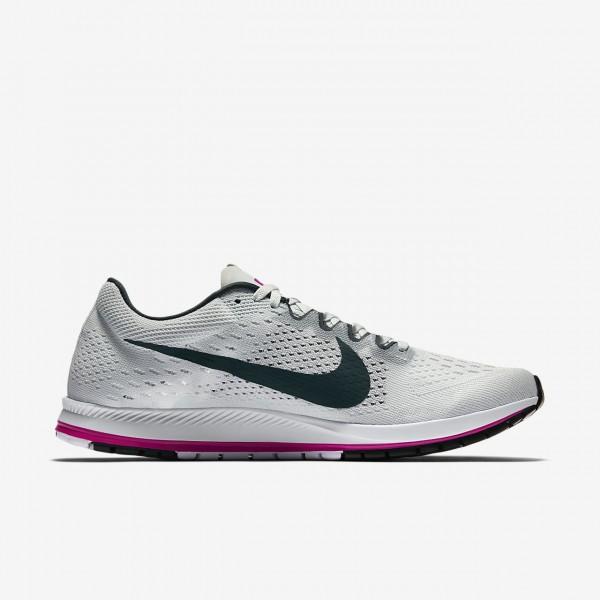 Nike Zoom Streak 6 Laufschuhe Damen Grau Fuchsie Tiefes Grün 703-78699