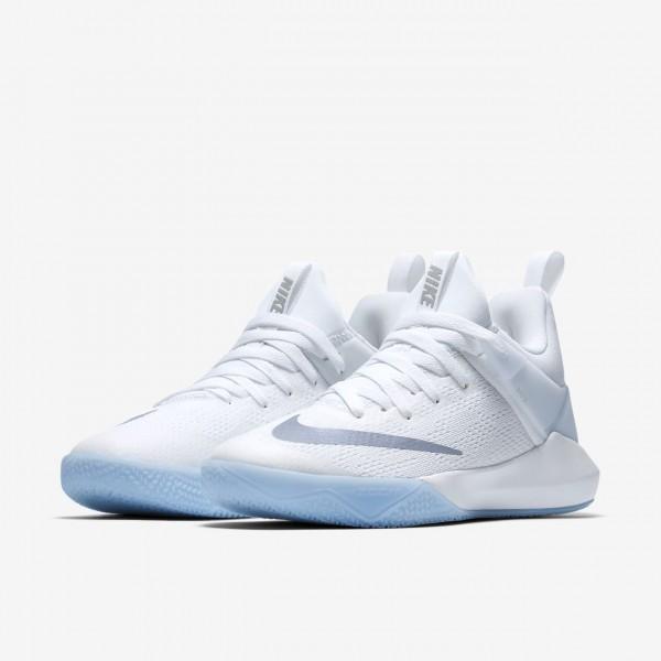 Nike Zoom Shift Basketballschuhe Damen Weiß Grau Metallic Silber 862-70005