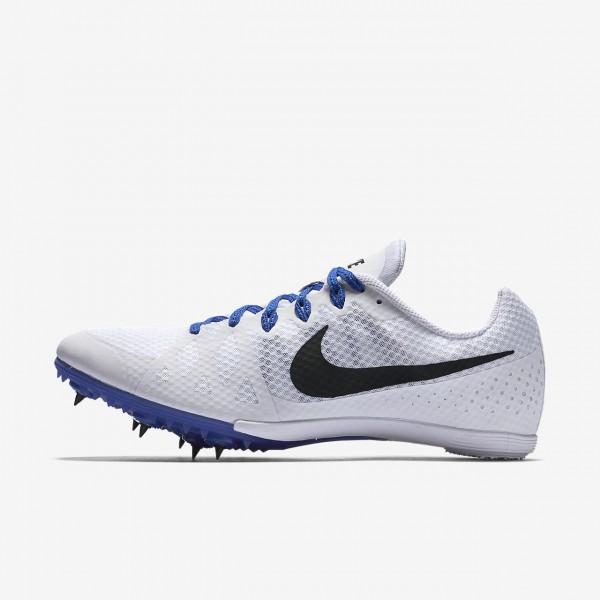 Nike Zoom Rival M 8 Spike Schuhe Damen Weiß Blau ...