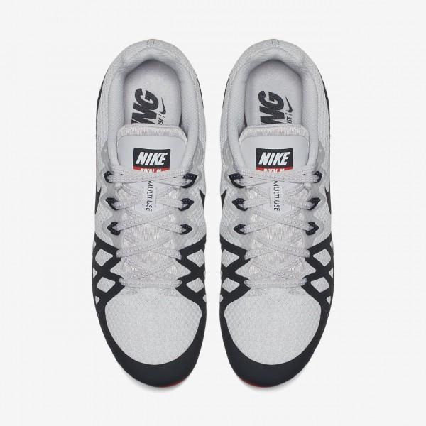 Nike Zoom Rival M 8 Spike Schuhe Damen Grau Rot Weiß Schwarz 311-16159