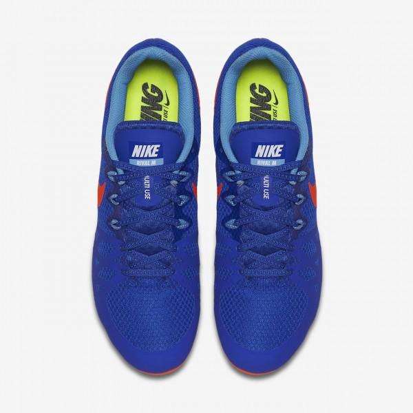 Nike Zoom Rival M 8 Spike Schuhe Damen Blau Rot 627-12601
