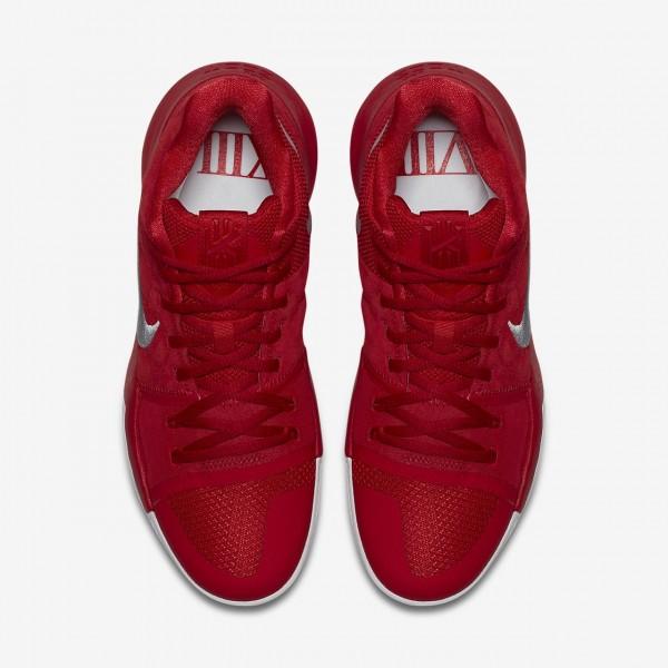 Nike Kyrie 3 Basketballschuhe Herren Rot Grau 917-60156