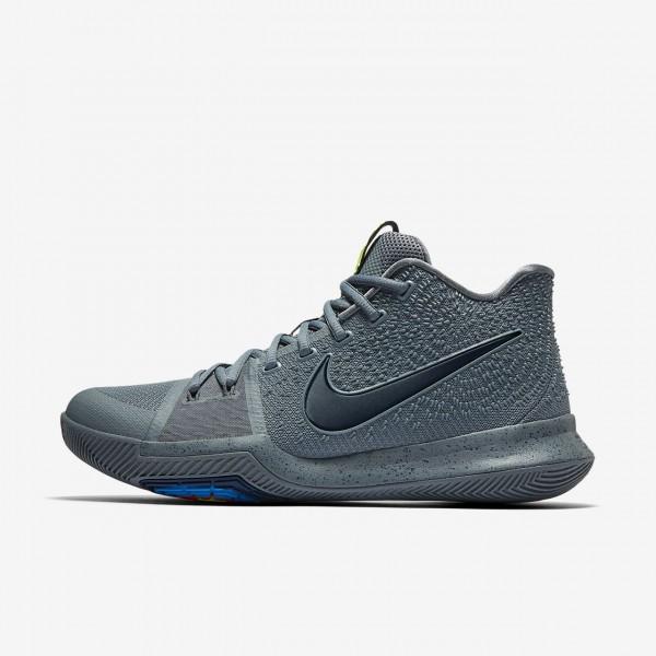 Nike Kyrie 3 Basketballschuhe Herren Grau Blau Nav...