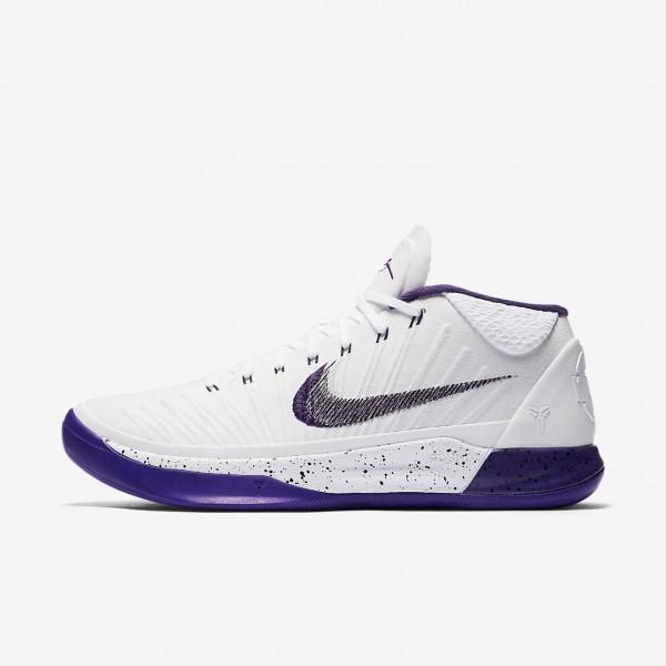 Nike Kobe A.D. Basketballschuhe Herren Weiß Schwarz Lila 202-52199