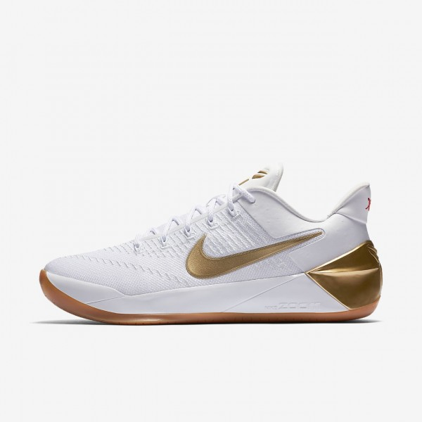 Nike Kobe A.D. Basketballschuhe Herren Weiß Metallic Gold 169-85935