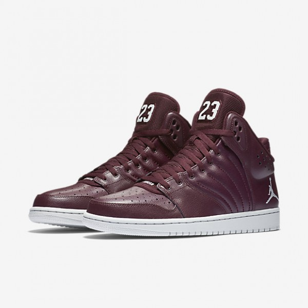 Nike Jordan 1 Flight 4 Outdoor Schuhe Herren Bordeaux Platin 825-43975