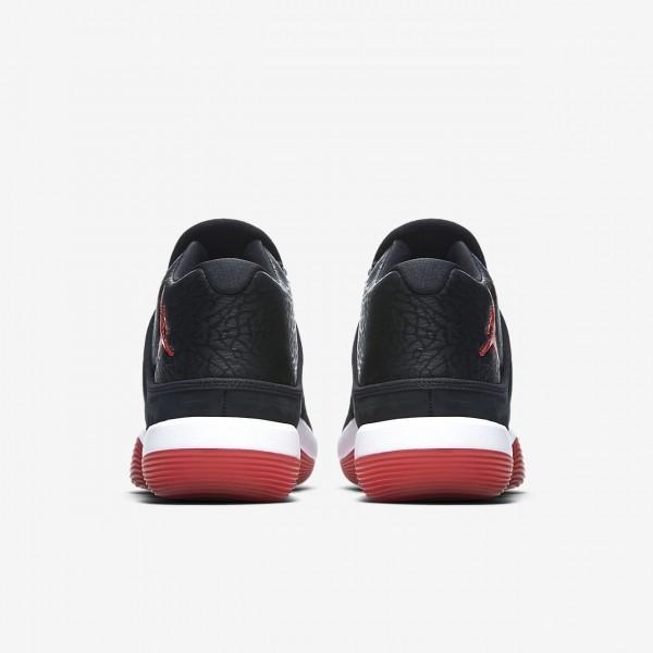 Nike Jordan Superfly 2017 Basketballschuhe Herren Schwarz Weiß Rot 443-70949
