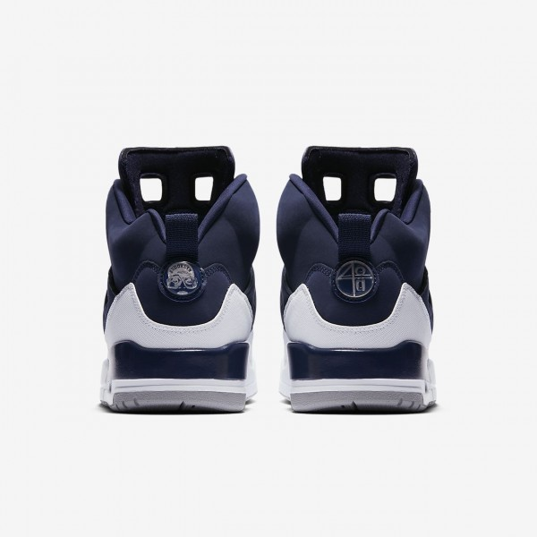 Nike Jordan Spizike Outdoor Schuhe Herren Navy Weiß Grau Metallic Silber 306-46841