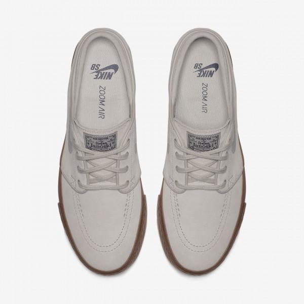 Nike Sb Zoom Stefan Janoski Skaterschuhe Herren Weiß Blau Dunkelbraun 245-90342