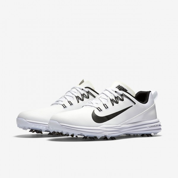 Nike Lunar Command 2 Golfschuhe Herren Weiß Schwarz 632-45703