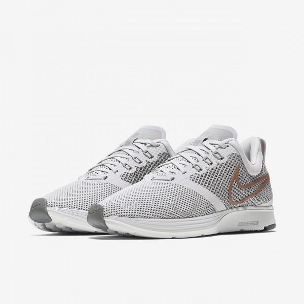 Nike Zoom Strike Laufschuhe Damen Grau Pink Weiß 580-25449