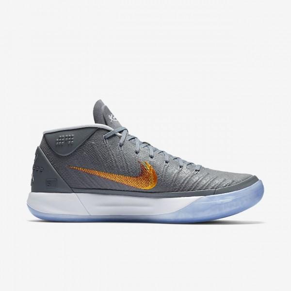 Nike Kobe A.D. Basketballschuhe Herren Silber Orange Rot 486-11034