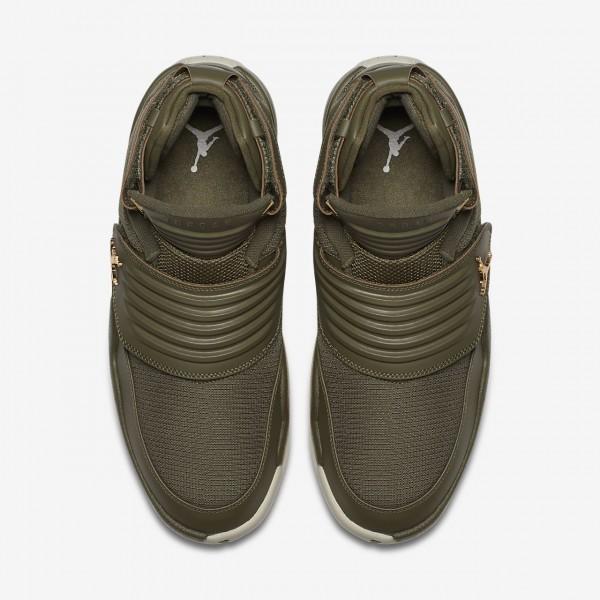 Nike Jordan Generation Outdoor Schuhe Herren Olive Weiß 542-78195