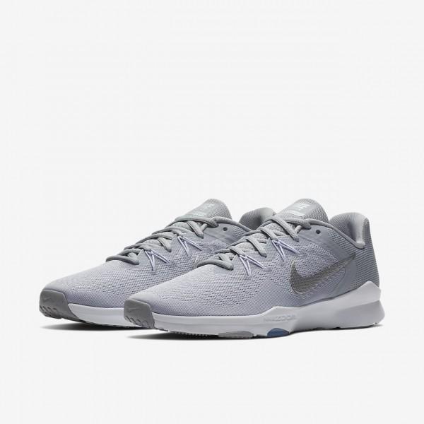Nike Zoom Condition Tr 2 Trainingsschuhe Damen Grau Weiß Metallic Silber 516-63005