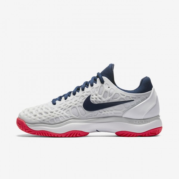 Nike Zoom Cage 3 Tennisschuhe Damen Weiß Platin R...