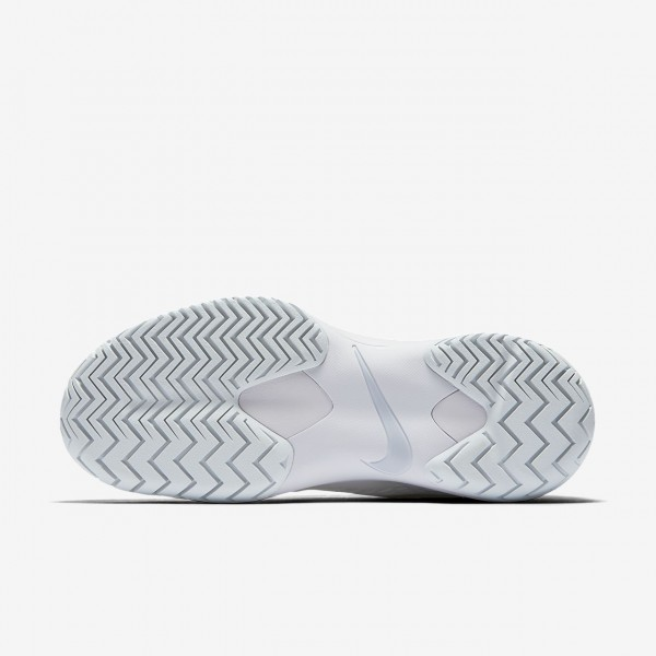 Nike Zoom Cage 3 Tennisschuhe Damen Weiß Platin Metallic Silber 528-50680