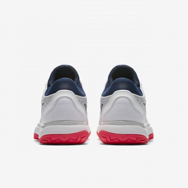 Nike Zoom Cage 3 Tennisschuhe Damen Weiß Platin Rot Blau 294-99306
