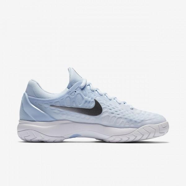 Nike Zoom Cage 3 Tennisschuhe Damen Blau Weiß Metallic Dunkelgrau 821-43139