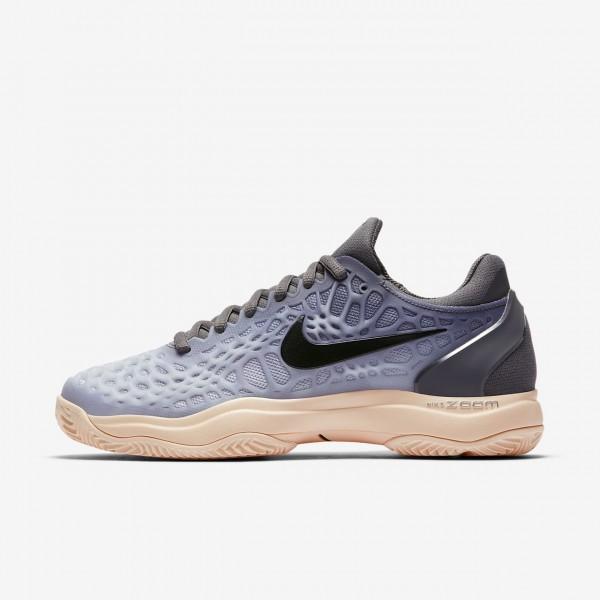 Nike Zoom Cage 3 Clay Tennisschuhe Damen Dunkelgra...