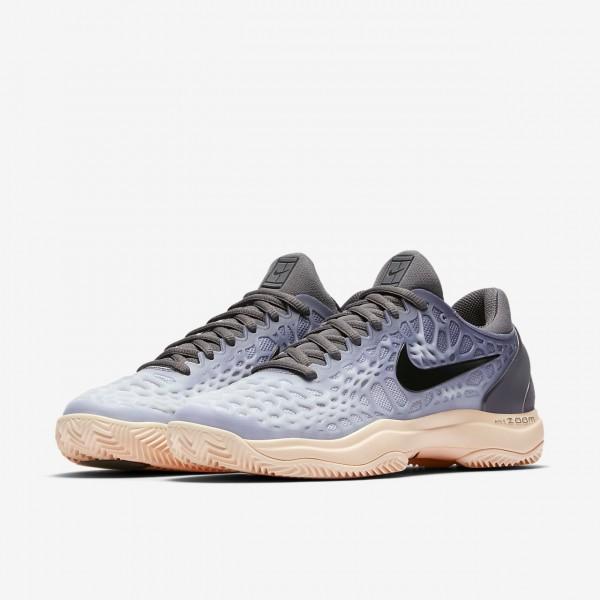 Nike Zoom Cage 3 Clay Tennisschuhe Damen Dunkelgrau Orange Grau Schwarz 207-39566